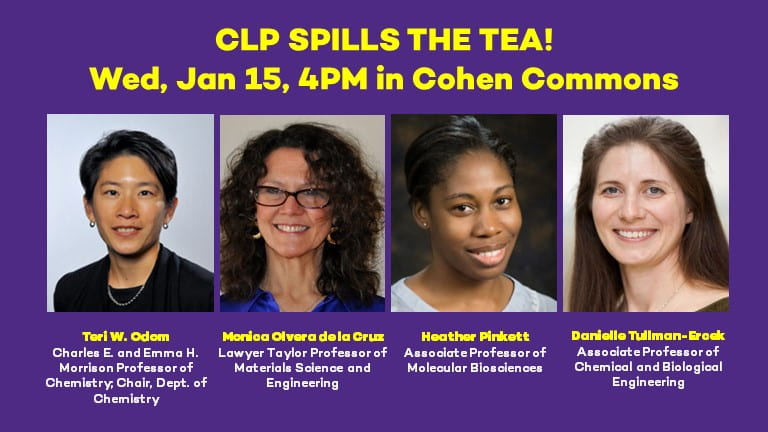 CLP Spills the Tea with Faculty Members to Mark 150 Years of Women at Northwestern