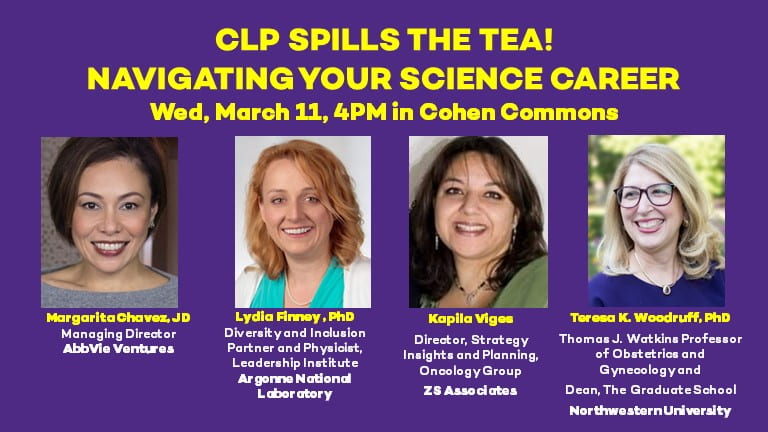 Women in Academia, Government and Industry to 'Spill the Tea' on Navigating Your Science Career