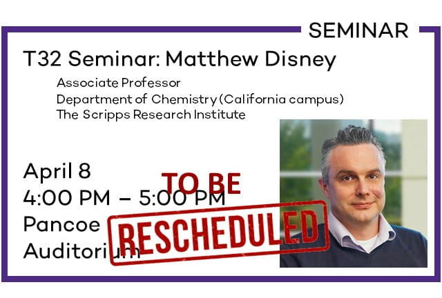 T32 Seminar: Matthew Disney