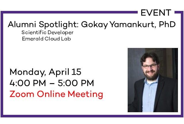 Alumni Spotlight: Gokay Yamankurt, PhD
