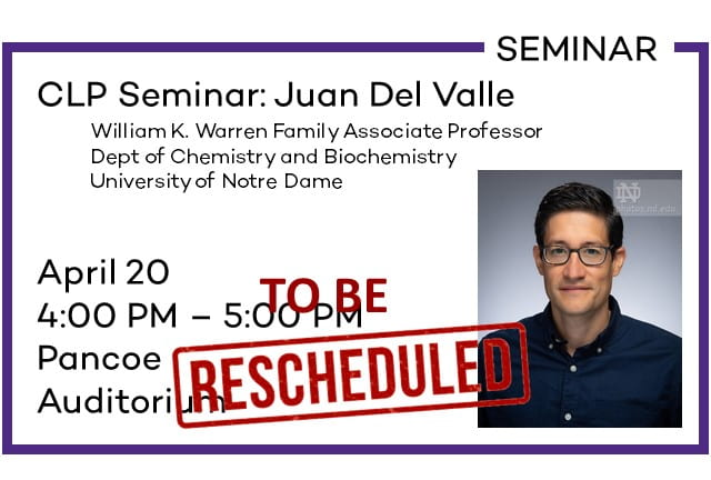 CLP Seminar: Juan Del Valle