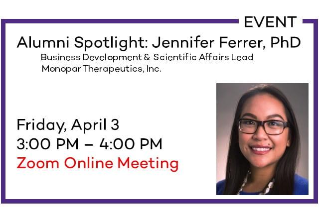 Alumni Spotlight: Jennifer Ferrer, PhD