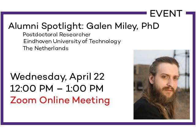 Alumni Spotlight: Galen Miley, PhD