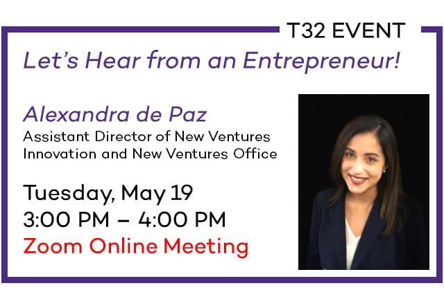 T32 Event: Alexandra de Paz