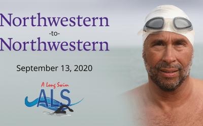 "13-mile ""Northwestern-to-Northwestern"" Lake Michigan Swim to Benefit ALS Research"