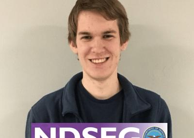 Graduate student Thomas (Tom) Sheridan receives prestigious NDSEG Fellowship!