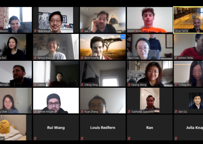 Dr. Yijun Liao celebrates a successful thesis defense with the groups virtually!