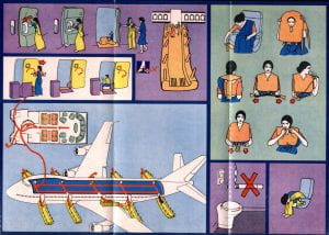 Air India 747 Safety Card page 2