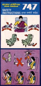 Air India 747 Safety Card
