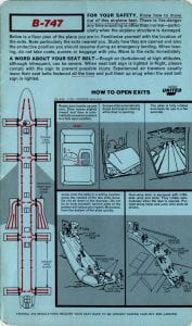 United 747 Safety Card