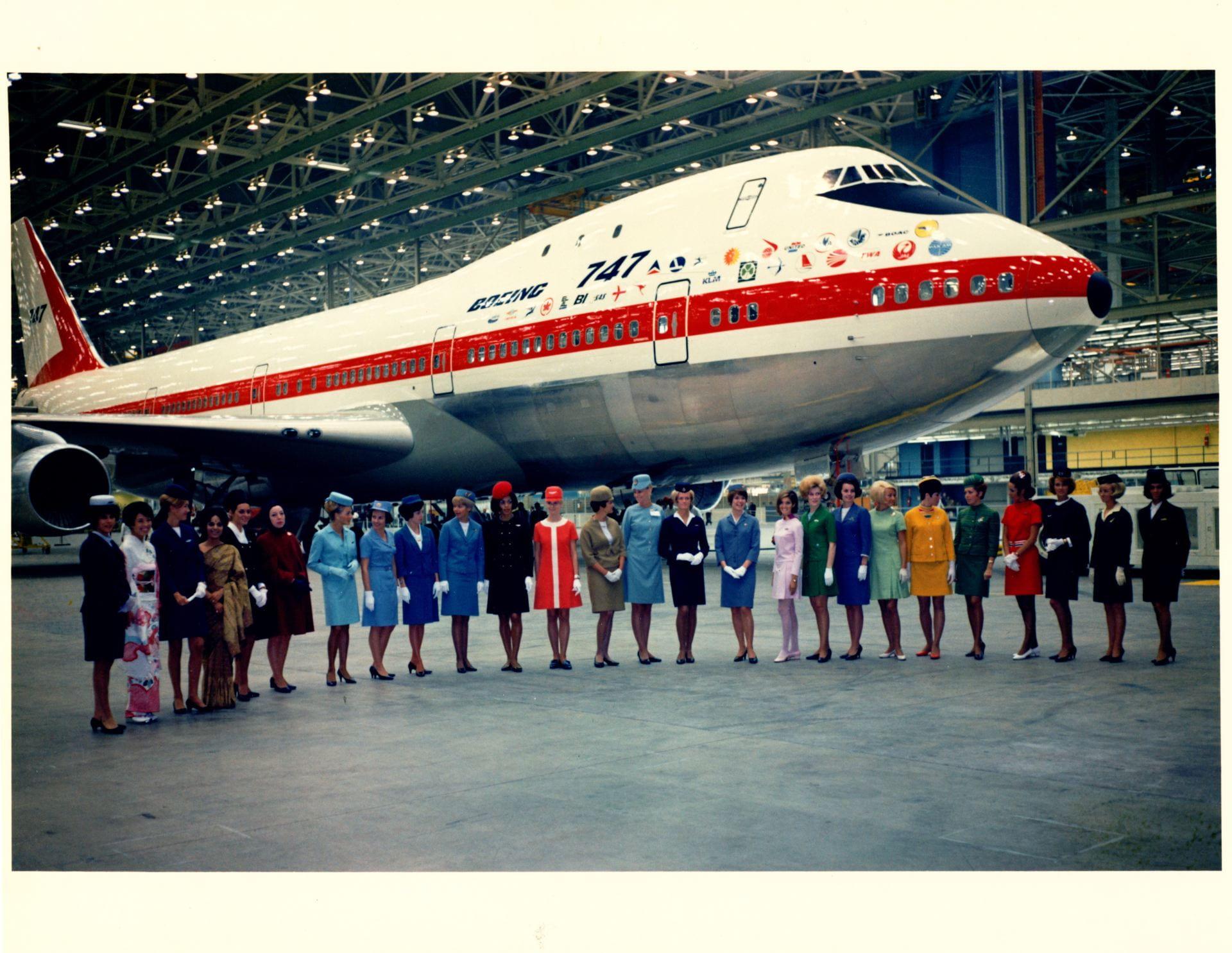 Flight attendants on launch day