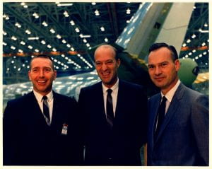 Jess Wallick flight engineer, Jack Wadell pilot, and Brien Wyble co-pilot