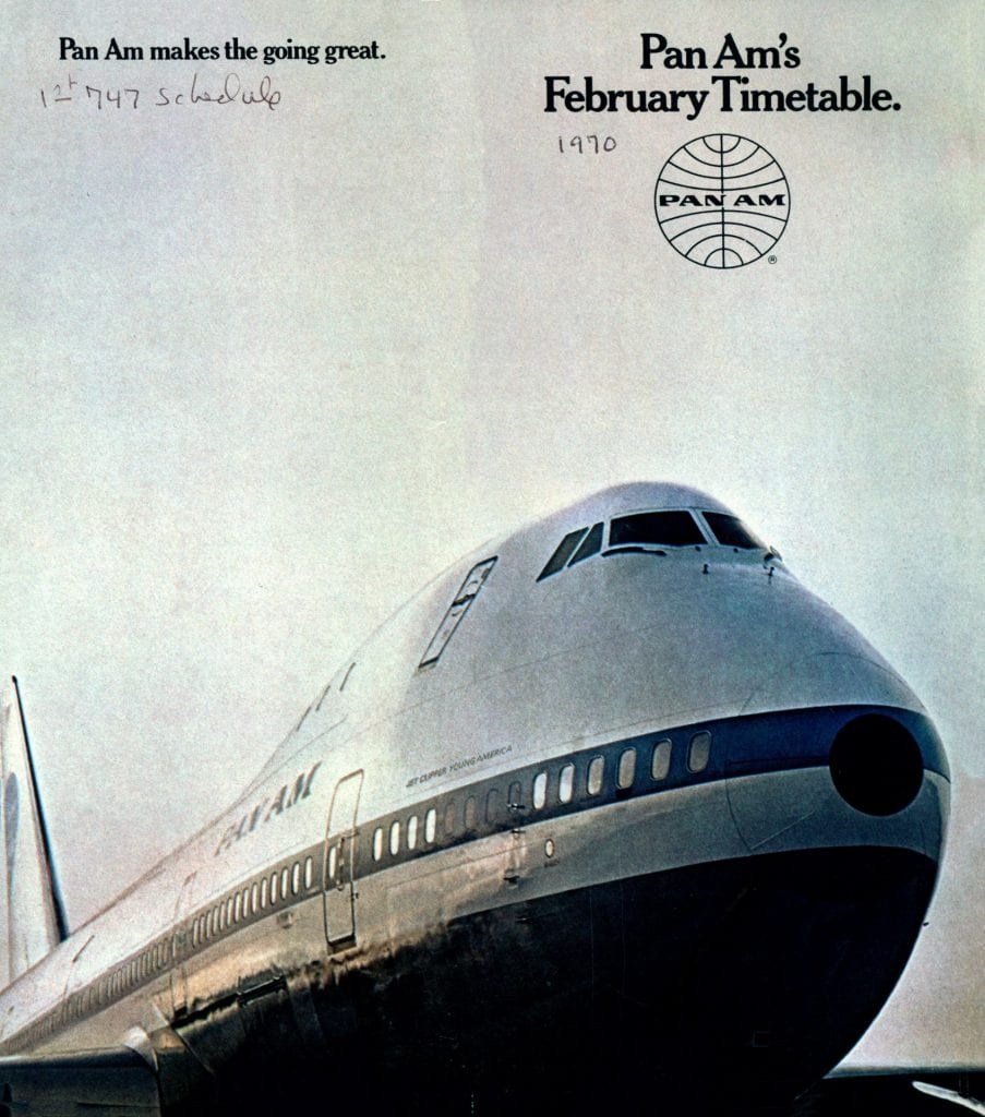 Pan Am February 1970 timetable