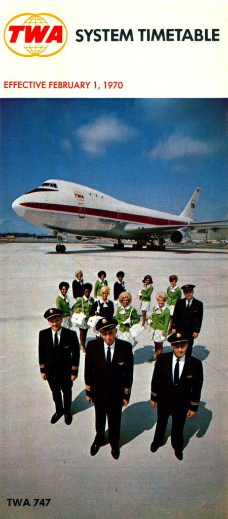 TWA Timetable February 1970