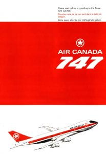 Air Canada Pamphlet