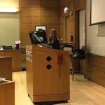 Kelsey Lutz at the DPELC-MSL Speaker Series