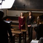 Camera Crew Films Professors Sue Provenzano and Martha Kanter
