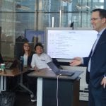 Prof Dan Linna lecturing