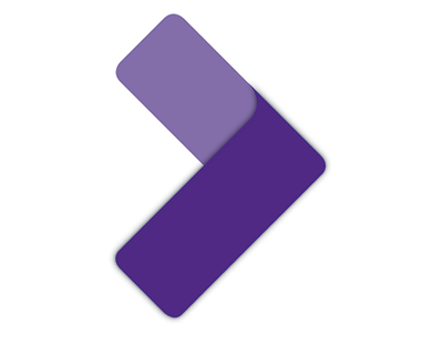 purple arrow logo for SILC