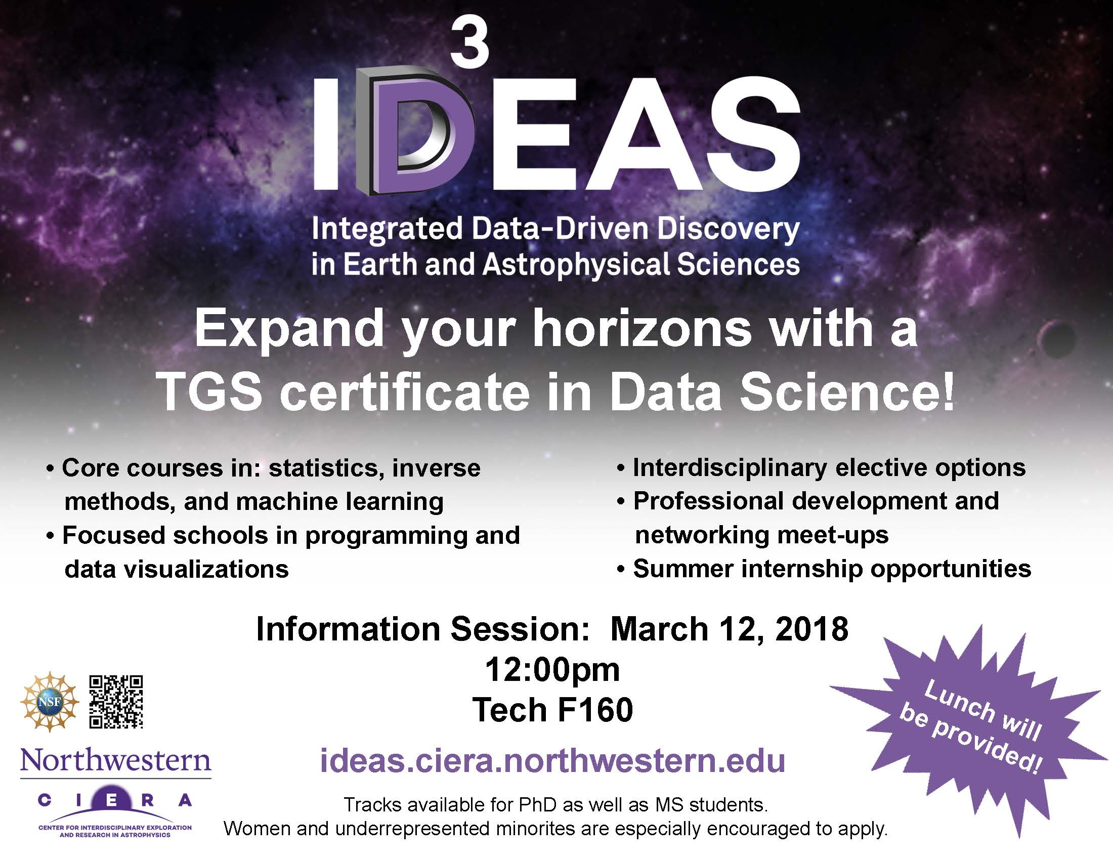 IDEAS Information Session for Potential 2018 Cohort Members to be Held 3/12/18