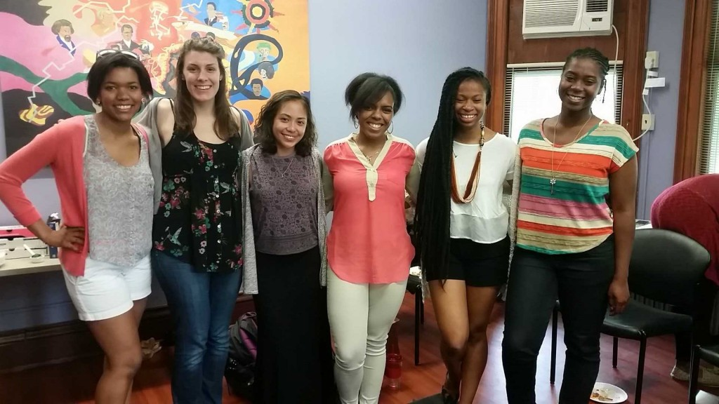 From Left to Right: Ashley Gilmore, Natalie Fallert, Linling Navarro, Sarah Brown, Rachel Gladney, Lillian Nwanah. Not Pictured: April Quioh, Charlie Fiorillo, Faith Lyde, Joseph Younge, and Kenya Hall