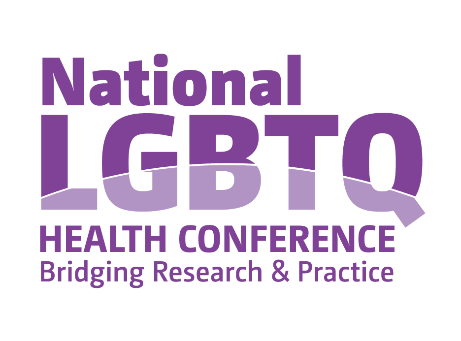 The logo for the National LGBTQ Health Conference: Bridging Research & Practice.