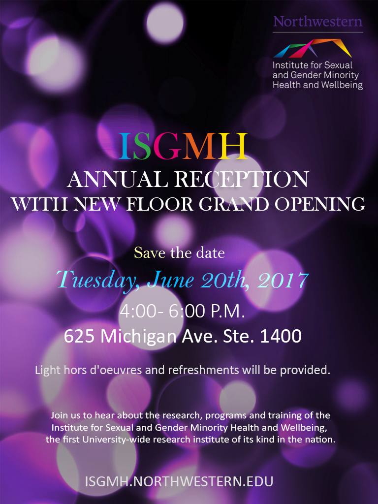Save the Date image for ISGMH Annual Reception