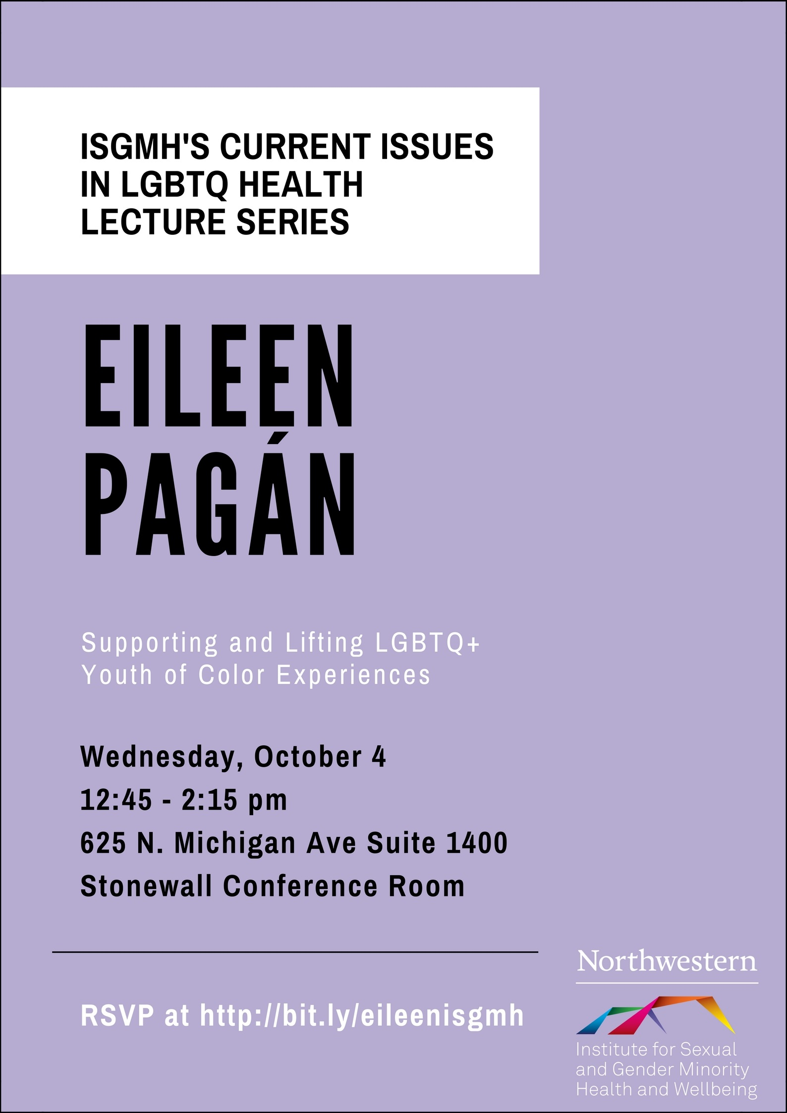 Poster for Eileen Pagan Current Issues talk