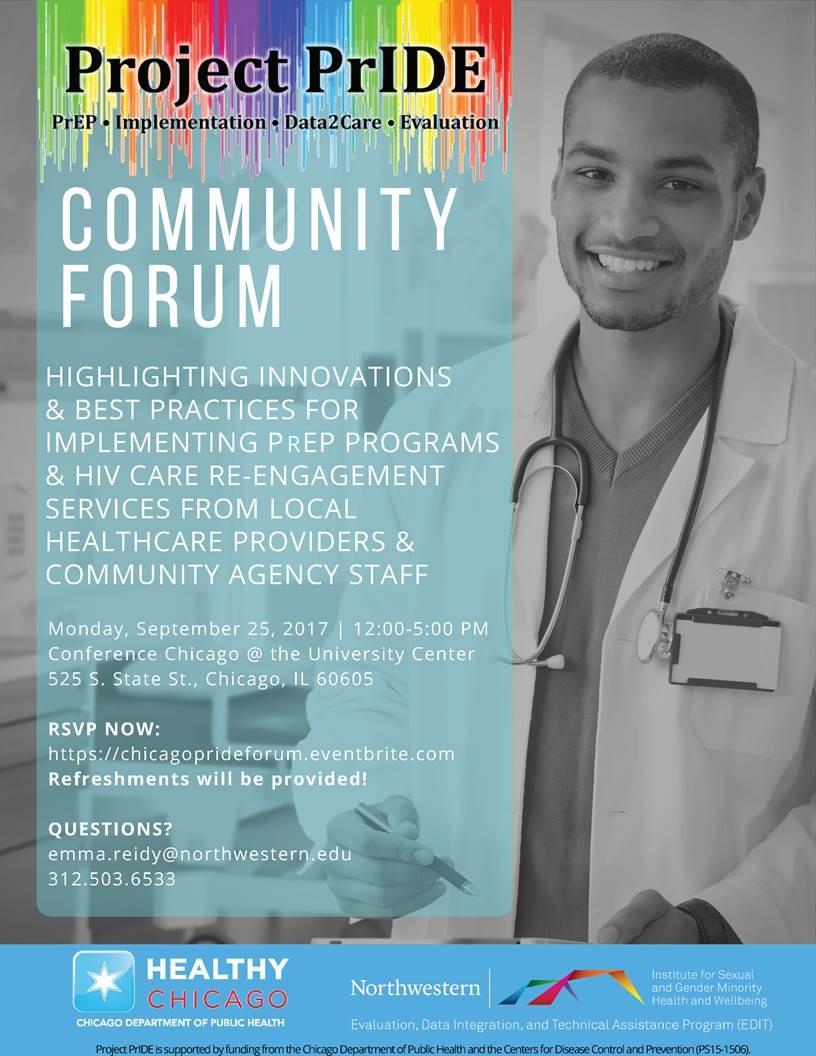 Project PrIDE Community forum flier