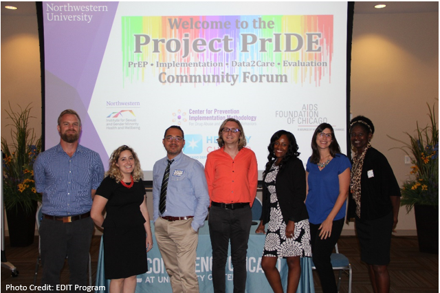 From left to right: Patrick Stonehouse (CDPH), Emma Reidy (Evaluation Center), George Greene, PhD (Evaluation Center), Gregory Phillips II, PhD (Evaluation Center), Erika Harding (CDPH), Amy Johnson, PhD (Evaluation Center), Evelyn Green (CDPH)
