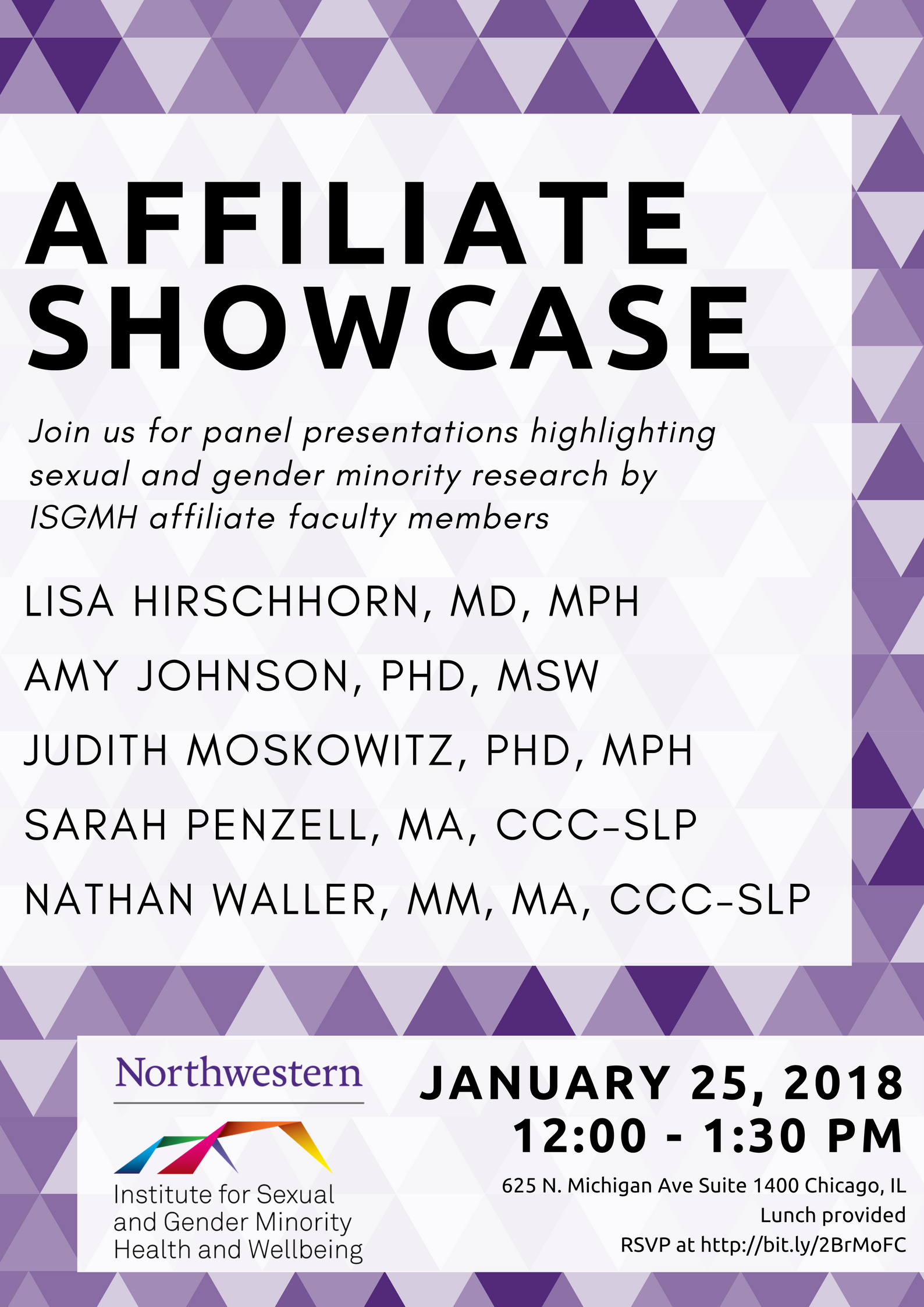 ISGMH Affiliate Showcase flier