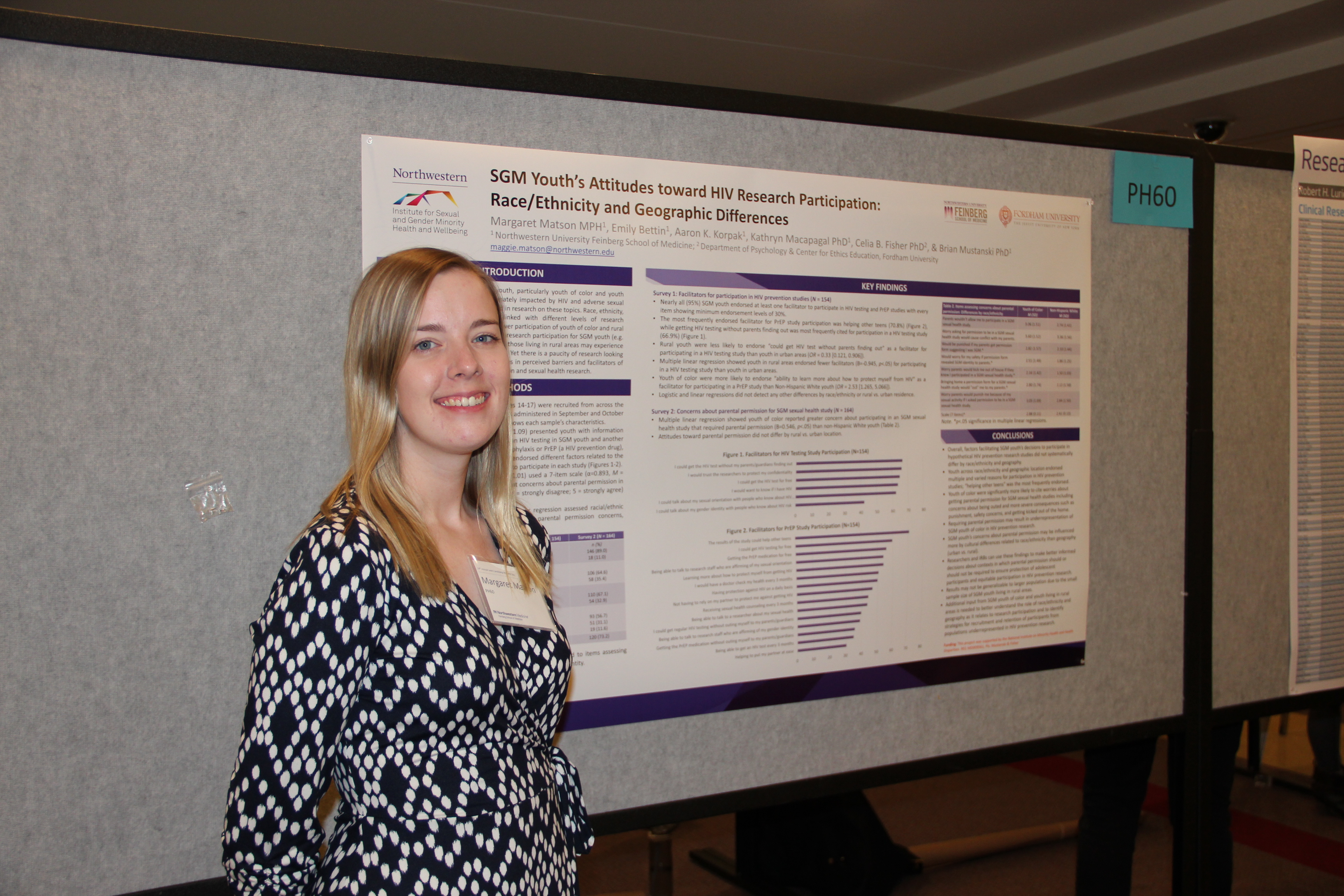 Maggie Matson presents her poster at Research Day.