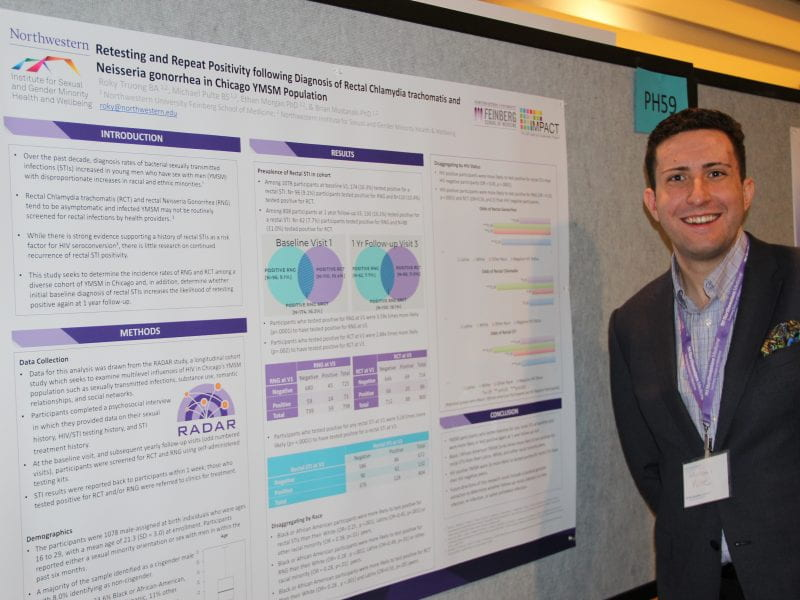 Michael Pulte presents his poster at Research Day.