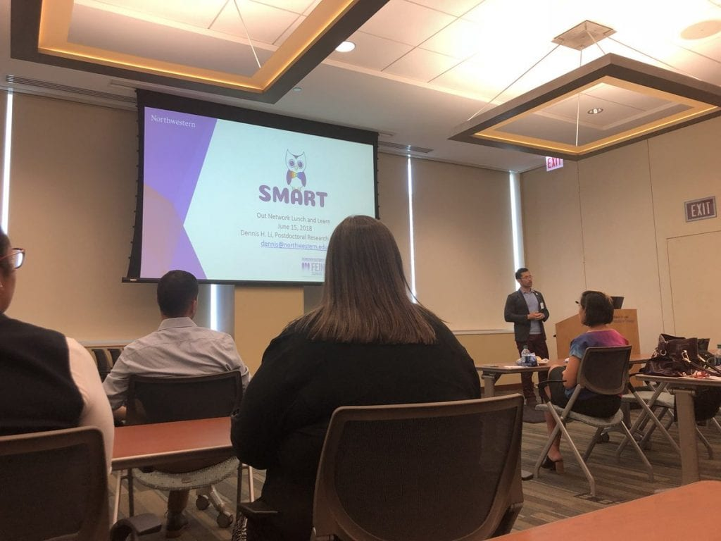 Dr. Dennis Li presenting on the SMART project.