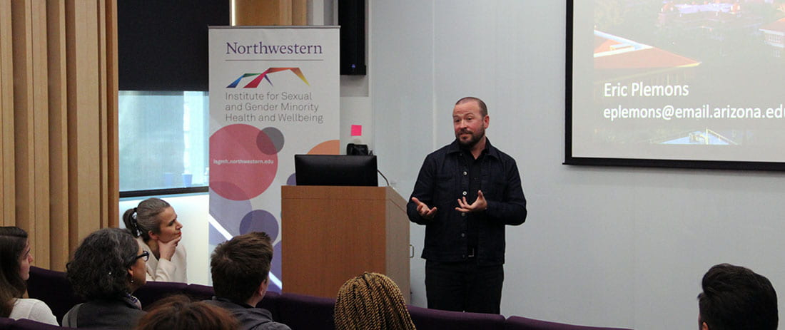 Dr. Eric Plemons delivers a Current Issues in LGBTQ Health Lecture on whiteness and facial feminization surgery.