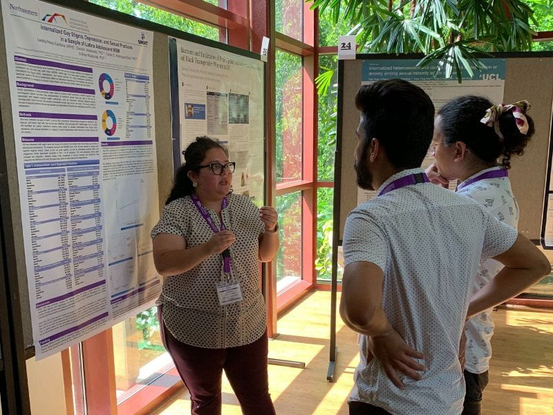 Leishla Perez-Cardona presents her poster at the 2019 National LGBTQ Health Conference.