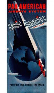 Pan Am Latin America 1941 Timetable