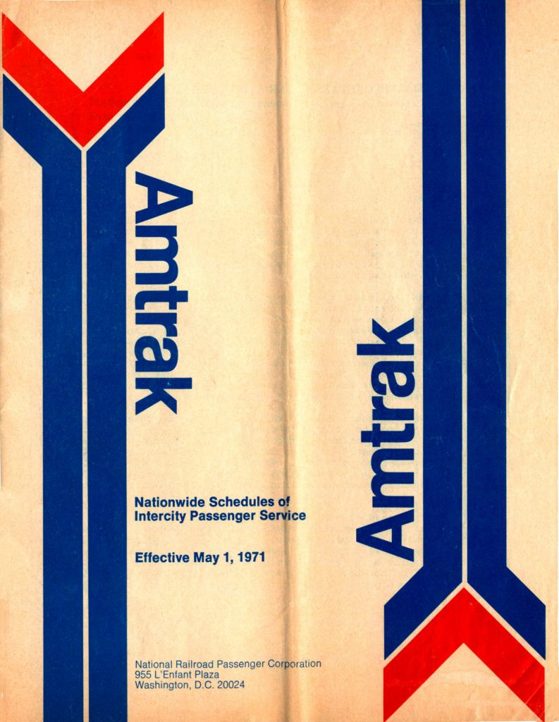 Amtrak May 1, 1971 Timetable