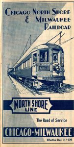 Chicago, North Shore & Milwaukee Railroad Timetable December 3 1939
