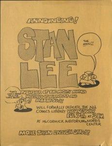 Student flyer, announcing Lee's visit.