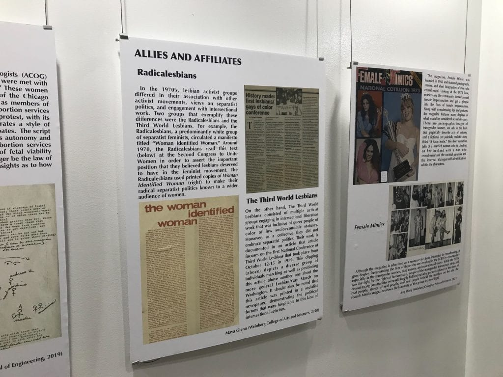 Feminist and Queer Archives exhibit