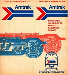 Amtrak 1971 Timetable