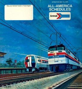 Amtrak 1975 Timetable