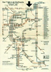 German Train Map 1958
