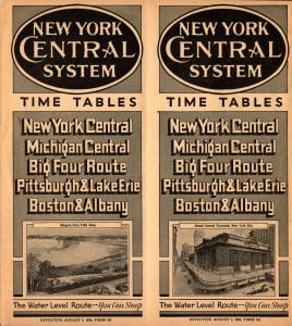 New York Central 1938 Timetable