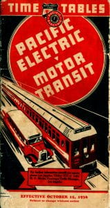 Pacific Electric 1936 Timetable