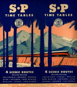 Southern Pacific 1947 Timetable