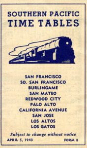 Southern Pacific 1943 Timetable