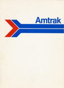 Amtrak Menu 1970s