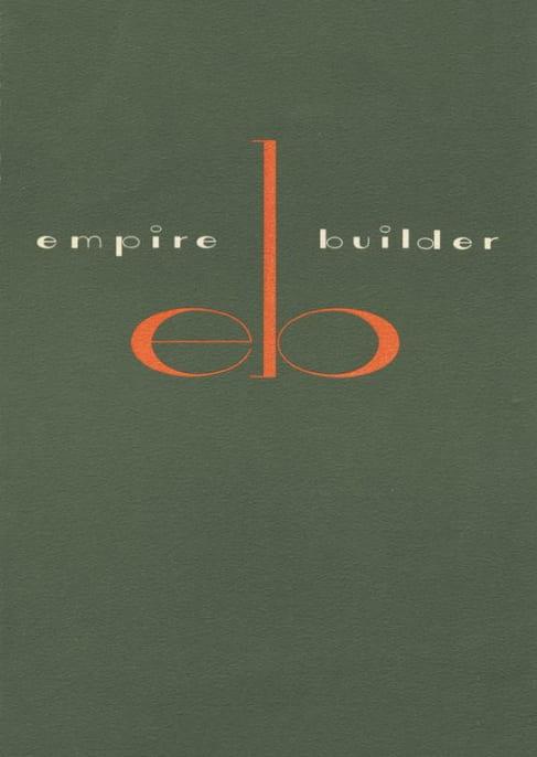 Empire Builder menu, 1962